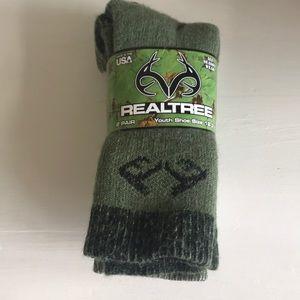 2 Pair Realtree Youth Merino Wool Blend Socks